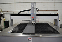 Water Jet Cutting Foam Workpiece